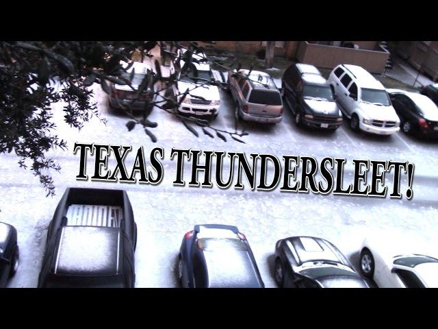 Texas ThunderSleet! A THORnews personal Weather share!
