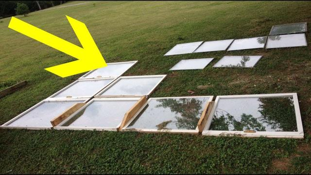 A Man Arranged Some Old Windows On His Turf – And Days Later He'd Built An Astonishing Construction