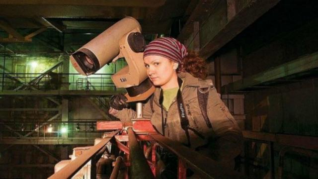 Real Life Lara Croft Discovers Abandoned Russian Facility