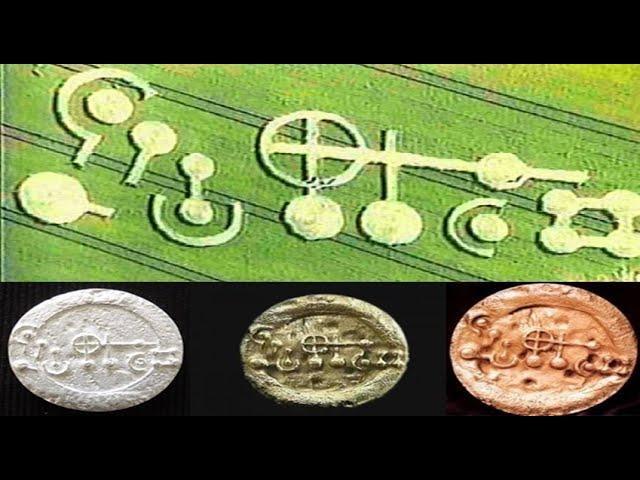 Metal plate sized precious metal discs Found Under The Grasdorf Crop Circle