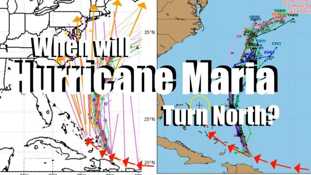 When will Hurricane Maria turn North? That's the BIG Question.