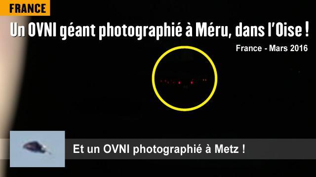 France : Un OVNI géant photographié près de Méru (60) - Mars 2016