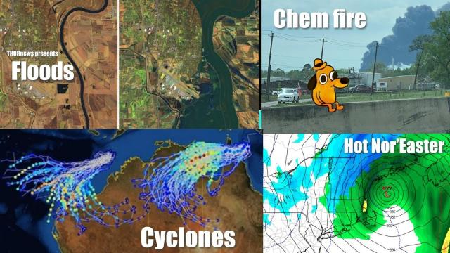 Biblical Midwest Flooding, Chemical Fire, Double Cyclones, Hot Nor'easter & MORE
