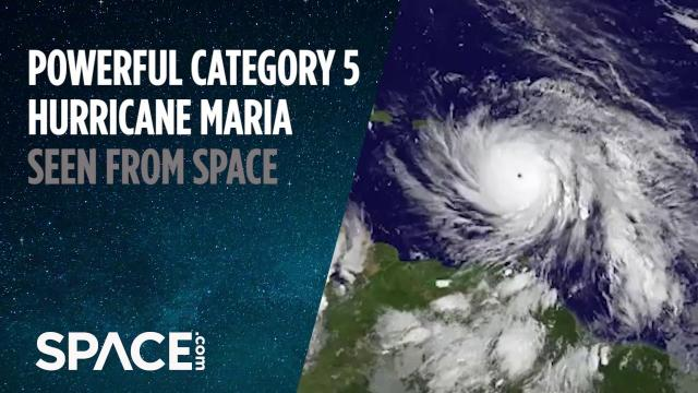 Category 5 Hurricane Maria Seen From Space