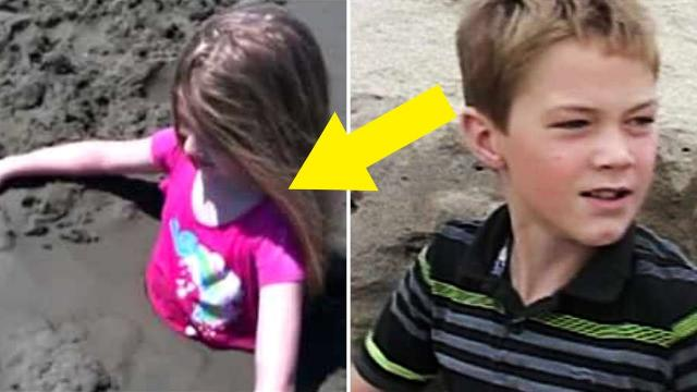 11 Year Old Boy Rescues A Young Girl Buried Alive In A Sand Dune