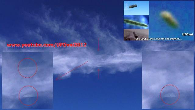 UFO CIGAR INVISIBLE Over Castle Ruins Tulum, Mexico, May 2015