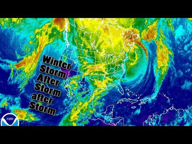 Ice, Snowstorms & Blizzards to blanket Central & East USA all week
