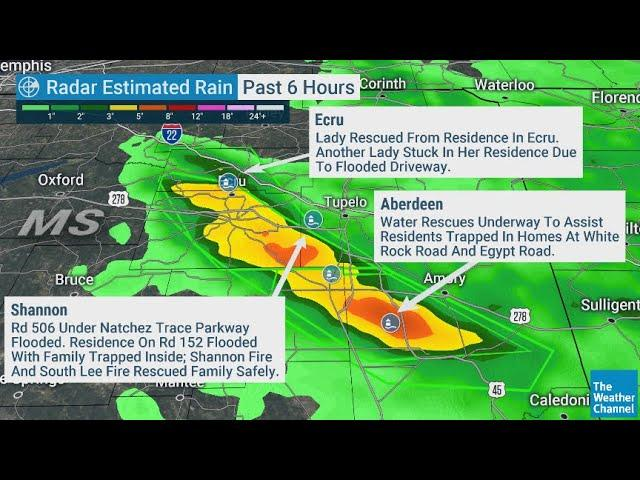 Alert! Mississippi Flash Flood Emergency! + Tennessee Flooding & Coming Heat Wave USA!