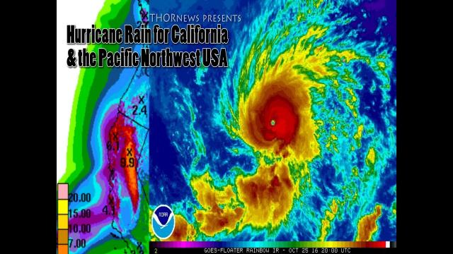 Strange Hurricane Rain coming to California & the Pacific Northwest USA