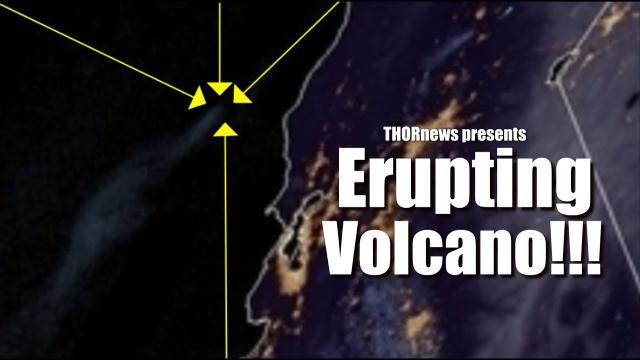a Volcano is Erupting 300 miles off of California Coast!!!