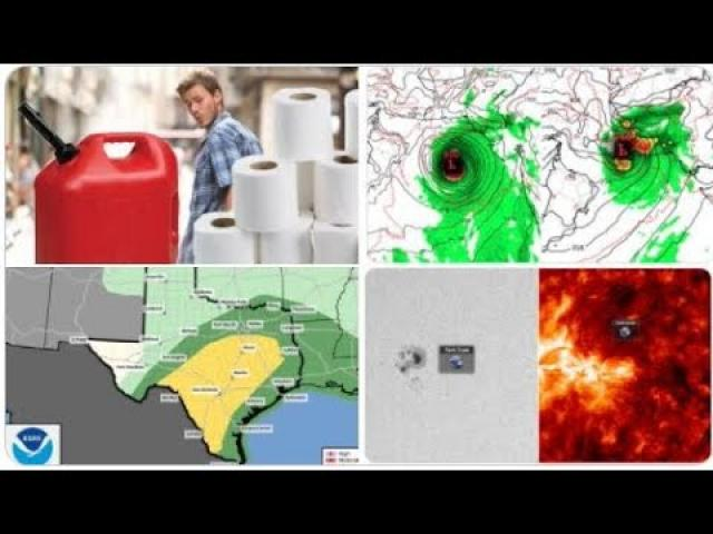 Red Alert! Texas Tornadoes & Hail! Louisiana floods! Sundiving Comet! East coast gas shortage! Snow!