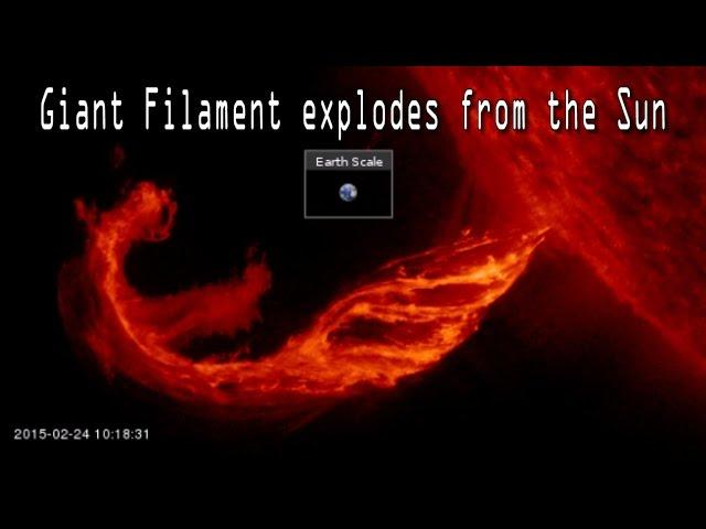 Giant Filament EXPLODES from the Sun