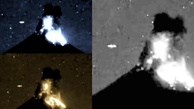 UFO Filmed Flying Through Lava (Eruption) over Volcano Colima, Mexico - FindingUFO