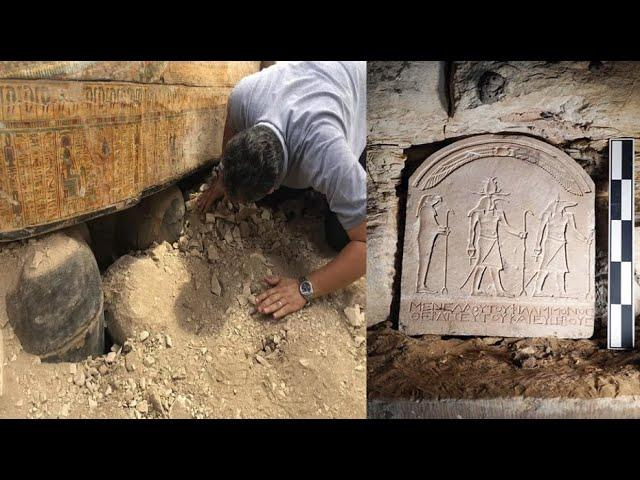 Magnificent New Discovery Inside Egyptian Catacomb November 2019