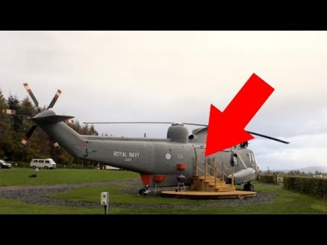 Family Gets Their Hands On Old Military Helicopter And Transforms It Beyond Their Wildest Dreams