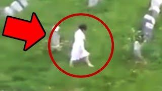 10 Terrifying Ghost Videos Caught In A Cemetery!