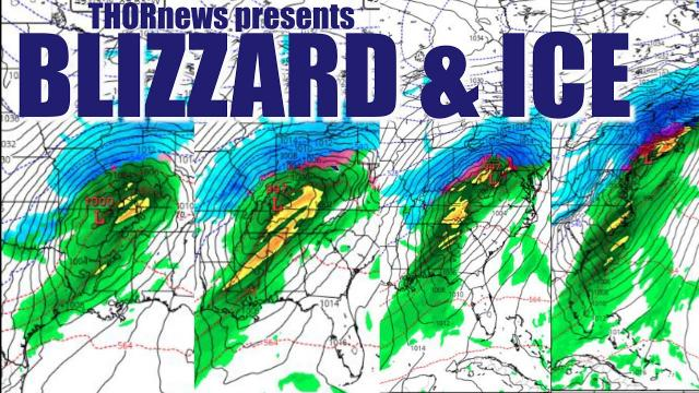 Big Blizzard & Ice Storm & Severe Weather to Hit Texas to the East Coast this Weekend