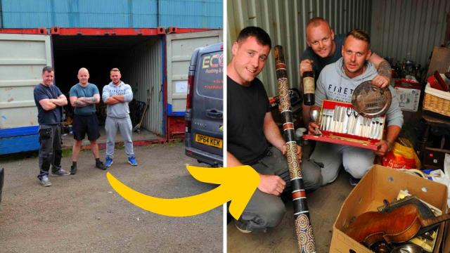 These Guys Bought A Shipping Container For $335 – Then Found A Treasure Trove Inside Worth Thousands