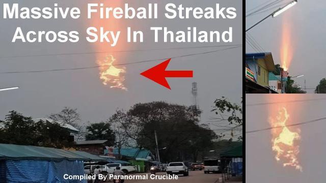 Massive Fireball Streaks  Across Sky In Thailand