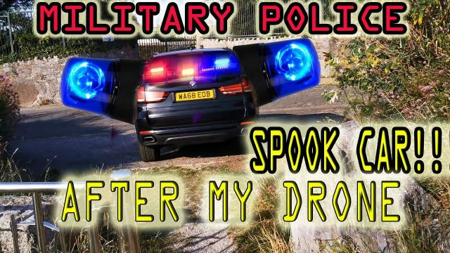 Military spook car getaway and Plymouth Scientology HQ EXPLORE
