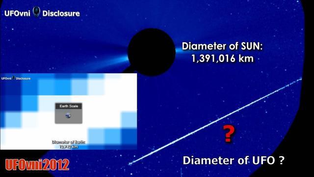 Huh! Diameter Of UFO ? Near The SUN, Jan 16, 2019