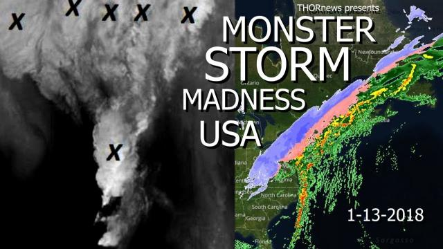 Demon Face Monster Storm USA causes Rapid Spike Ice Jams + More Cali Rain Troubles