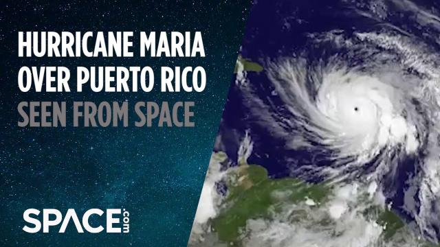 Hurricane Maria Over Puerto Rico Seen from Space