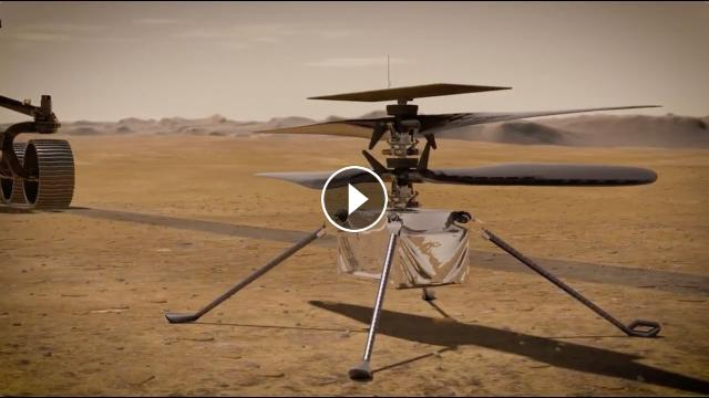 See Mars helicopter 'Ingenuity' take-off while rover ...