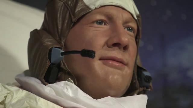 See Neil Armstrong and Buzz Aldrin Wax Figures at Madame Tussauds Dc