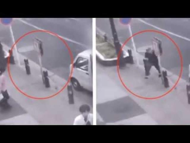Man Seen Teleporting in Security Footage