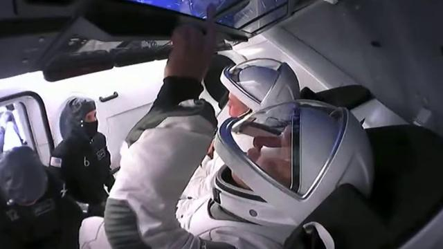 NASA astronauts strapped into SpaceX Crew Dragon ahead of 2nd launch attempt