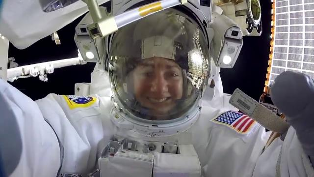 All-Female Spacewalk Captured by Tethered GoPro