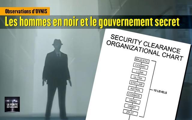 Observations d'OVNIS : Les hommes en noir et le gouvernement secret