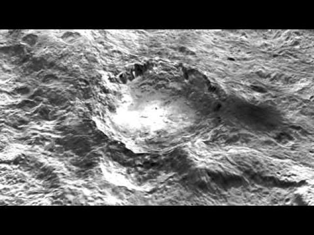Strange Bright Spots On Dwarf Planet Ceres' Pyramid Mountain | Video