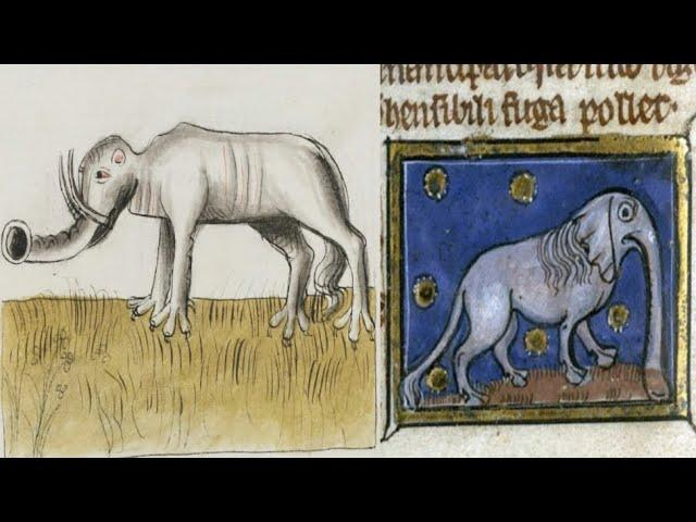 How Medieval Artists Painted Elephants They Had Apparently Never Seen an Elephant