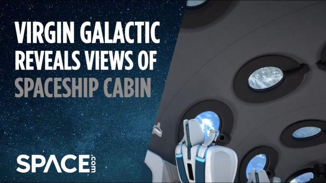 Virgin Galactic's Spaceship cabin revealed with multiple views