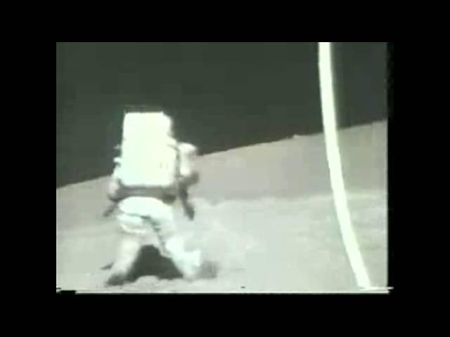 Apollo 17 Astronaut Falls on the Moon | Video