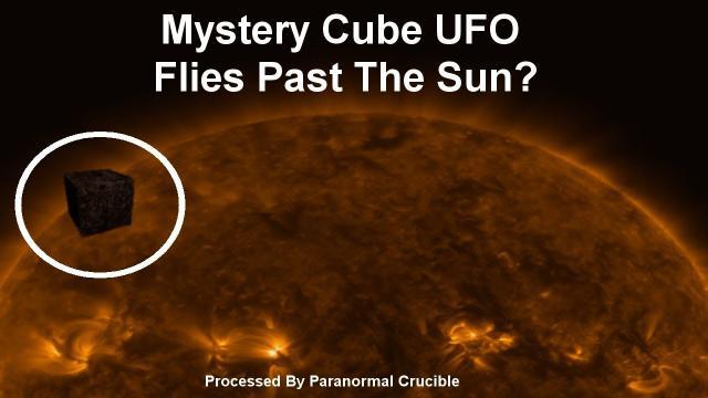 Cube UFO  Flies Past The Sun?
