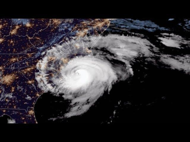 Hurricane Florence's North Carolina Landfall Seen From Space