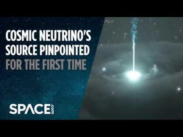 Cosmic Neutrino's Source Pinpointed for First Time