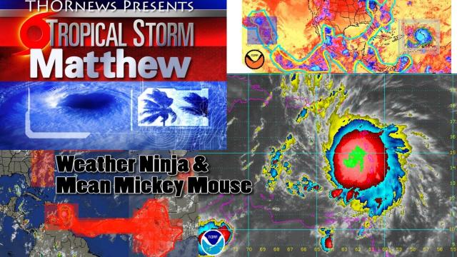 Monster Tropical Storm Matthew is set to Slam into the USA & is freaking out Radars now