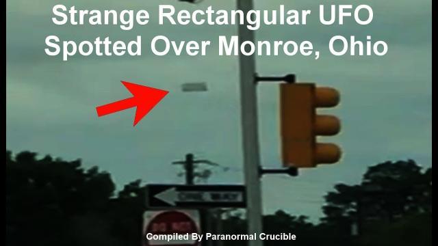 Strange Rectangular UFO  Spotted Over Monroe, Ohio