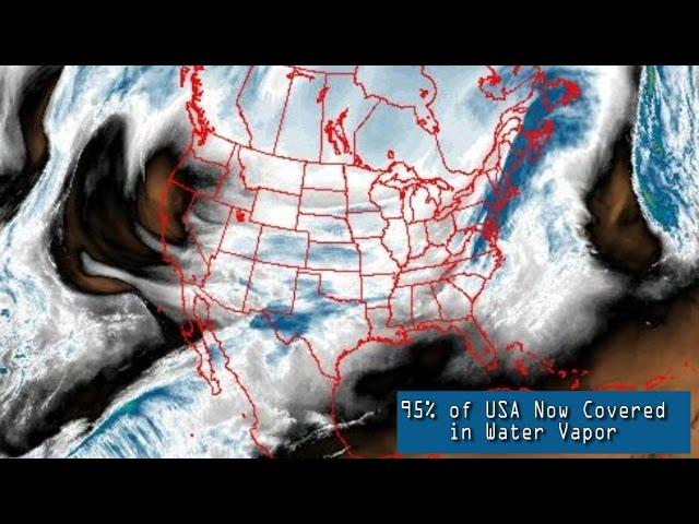 BIG Storms ahead!  95 percent on USA now covered in water vapor.