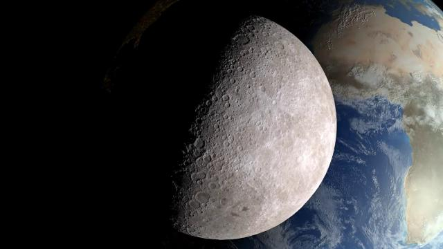 Impact Crater History on Earth and Moon Studied Using Lunar Orbiter Data