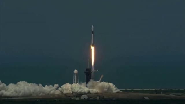 Blastoff! Historic SpaceX Demo-2 mission launches to space station