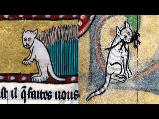 Medieval Artists Were Really Bad At Drawing Cats