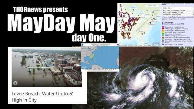 Wild Weather Mayday Day 1: 20% D off Florida, Cyclone Fani, 373 rivers flooding & more
