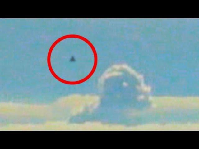 Ufo tr 3b filmed from plane window black triangle object