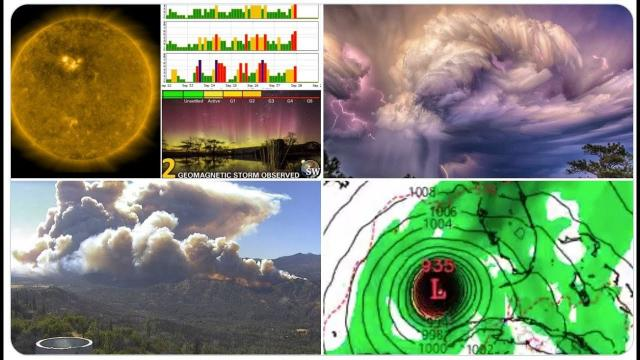 Major West Coast Wildfires! G2 Geomagnetic Storm! NE Flood! Multiple October Hurricanes? and SNOW.