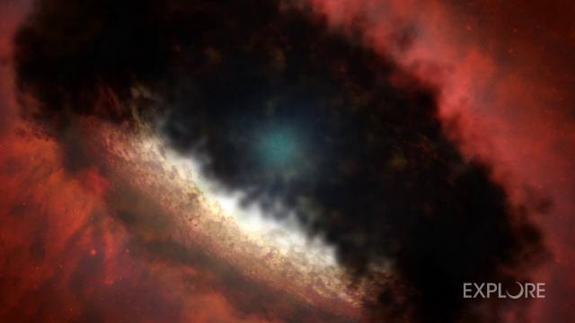 Newborn star's x-ray flare could provide solar system insight